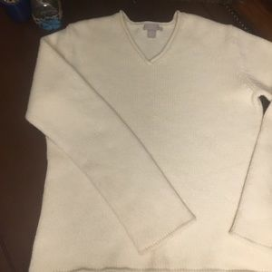 J Crew off white sweater. Lambs wool Angora